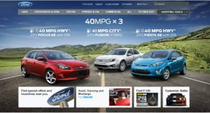 Ford Website Home Page