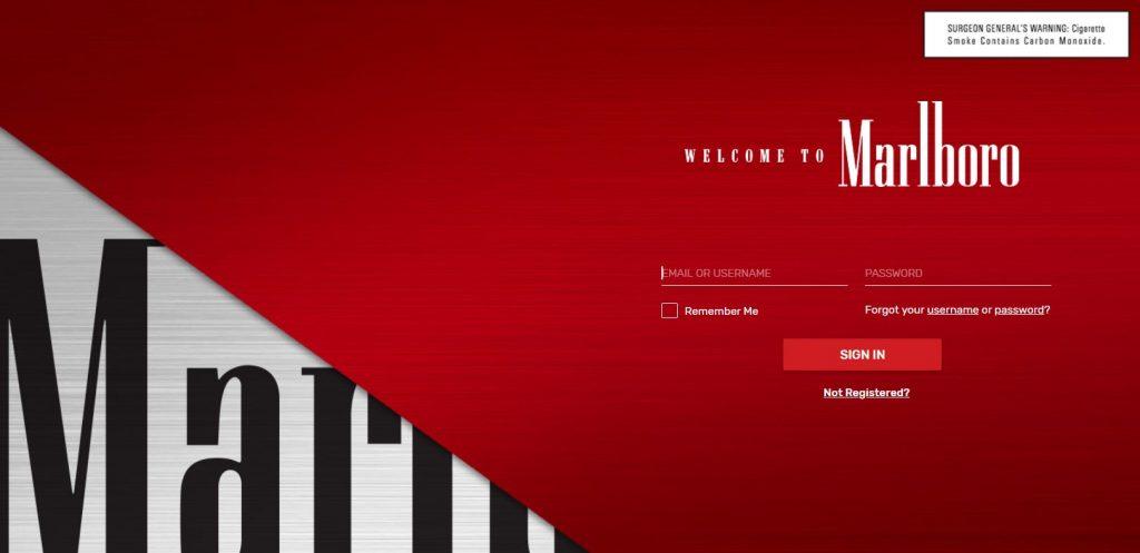 Marlboro Website Screenshot