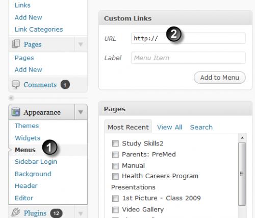 Creating Custom Links